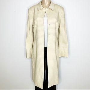 TAHARI Arthur S. Levine Cream Tan Long Jacket 12